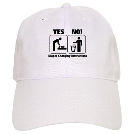 Diaper Changing Instructions Cap