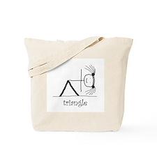 Triangle Yoga pose: Tote Bag