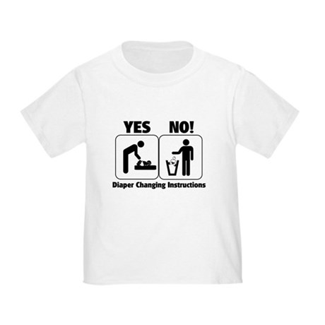 Diaper Changing Instructions Baby T-Shirt