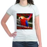 Save The Parrot Adopt Don't B Jr. Ringer T-Shirt
