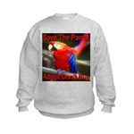 Save The Parrot Adopt Don't B Kids Sweatshirt