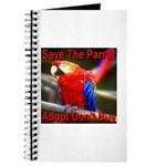 Save The Parrot Adopt Don't B Journal