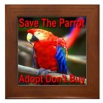 Save The Parrot Adopt Don't B Framed Tile