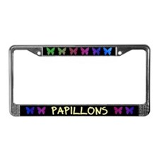 Colorful Butterfly Papillon License Plate Frame