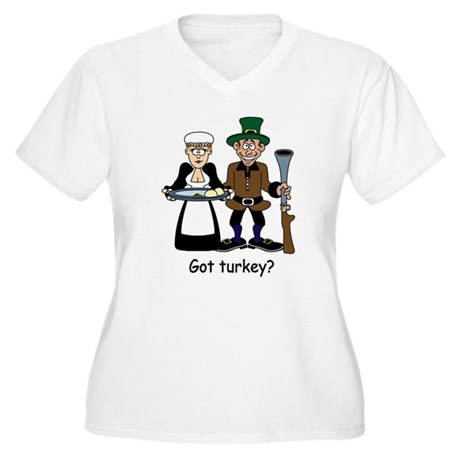 Got turkey? Women's Plus Size V-Neck T-Shirt