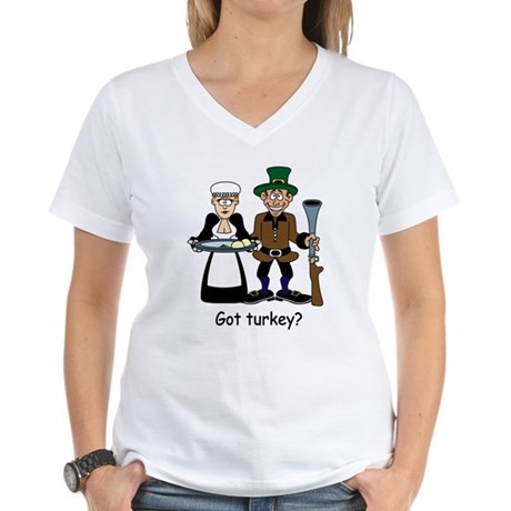 Got turkey? Women's V-Neck T-Shirt
