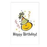 Happy Face Birthday Postcards (Package of 8)