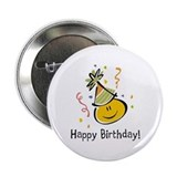 "Happy Face Birthday 2.25"" Button (10 pack)"