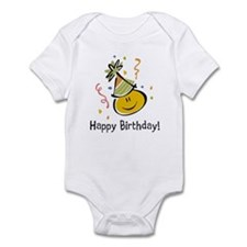 Happy Face Birthday Infant Bodysuit