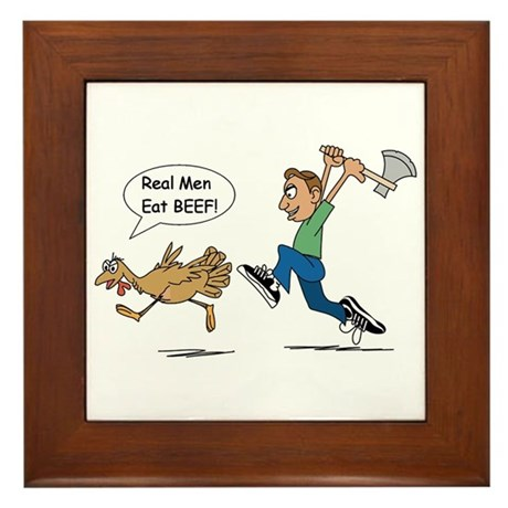 Funny Thanksgiving Framed Tile