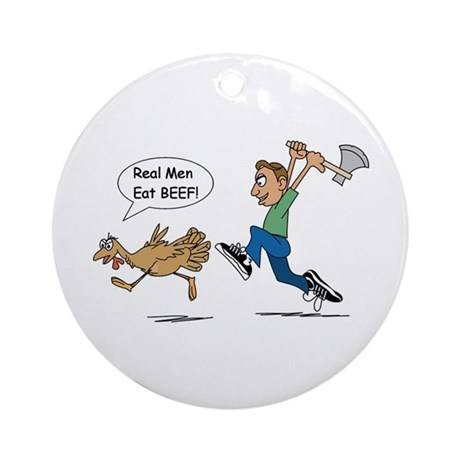 Funny Thanksgiving Ornament (Round)