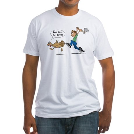 Funny Thanksgiving Fitted T-Shirt