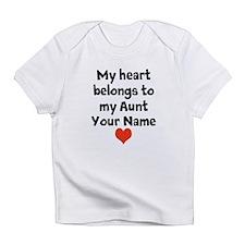 My Heart Belongs To My Aunt (Custom) Infant T-Shir