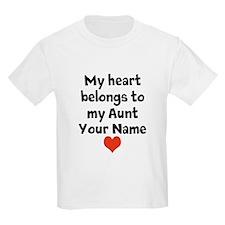 My Heart Belongs To My Aunt (Custom) T-Shirt
