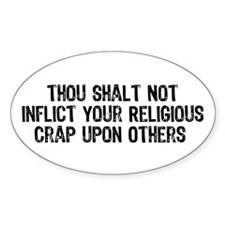 Anti-Religious Oval Decal