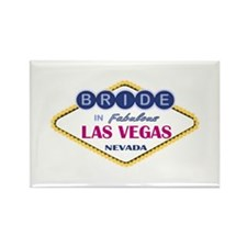 Las Vegas Bride Rectangle Magnet