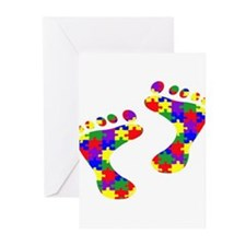 Footprints on your heart Greeting Cards (Pk of 10)