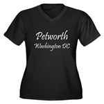 Petworth MG2 Women's Plus Size V-Neck Dark T-Shirt
