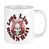 Long Live Rock N Roll Skull Coffee Mug