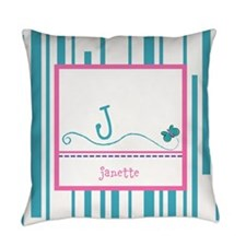 Custom Monogram Butterfly Everyday Pillow