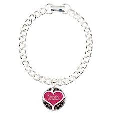 Personalized Pink Heart Bracelet