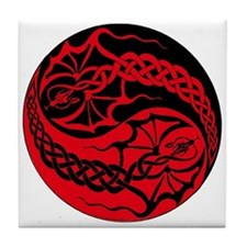 Dragon Spike Yinyang Tile Coaster