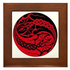 Dragon Spike Yinyang Framed Tile
