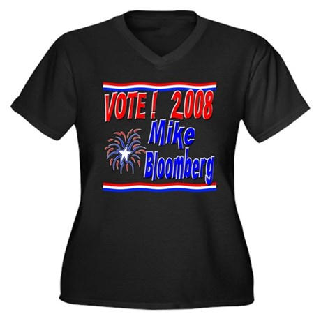 Vote Mike Bloomberg Women's Plus Size V-Neck Dark