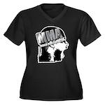 MMA Scream it Out! Women's Plus Size V-Neck Dark T