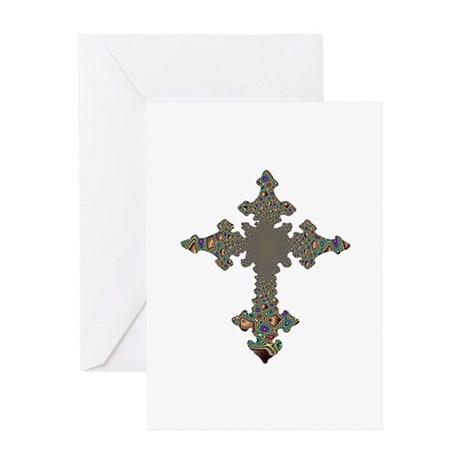 Jewel Cross Greeting Card