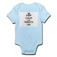 Keep Calm and Triplets ON Body Suit