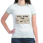 WILL WORK FOR COOKIES Jr. Ringer T-Shirt