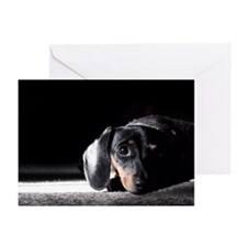 "Miniature Dachshund ""Shadows"" Greeting Cards"