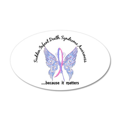 SIDS Butterfly 6.1 20x12 Oval Wall Decal