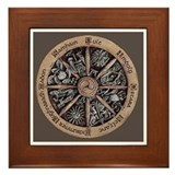 Pagan Wheel of the Year  Framed Tile