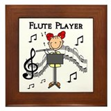 Flute Player Framed Tile