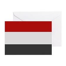 """""""Yemen Flag"""" Greeting Cards (Pk of 20)"""