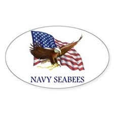Navy Seabees Oval Decal