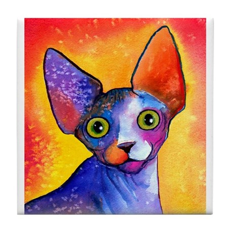 SPHYNX CAT 3 Tile Coaster 4.25X4.25""