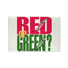 Red or Green? Rectangle Magnet