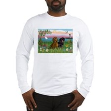 Shore & Dachshund Pair Long Sleeve T-Shirt
