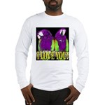Two Parrots I Love You Long Sleeve T-Shirt