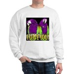 Two Parrots I Love You Sweatshirt