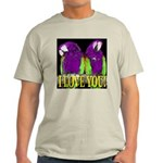 Two Parrots I Love You Light T-Shirt