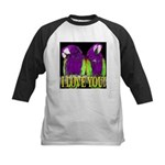 Two Parrots I Love You Kids Baseball Jersey