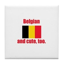 Cute Belgian Tile Coaster