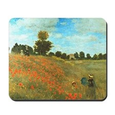 Poppies by Monet Mousepad
