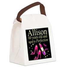 SPARKLING 60TH Canvas Lunch Bag