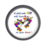 Footprints on your heart Wall Clock