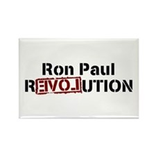 Ron Paul Revolution Rectangle Magnet (100 pack)